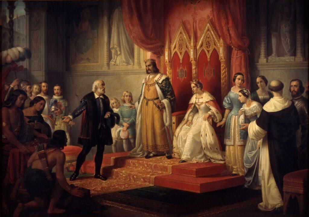 Cristóbal Colón ante los Reyes Católicos