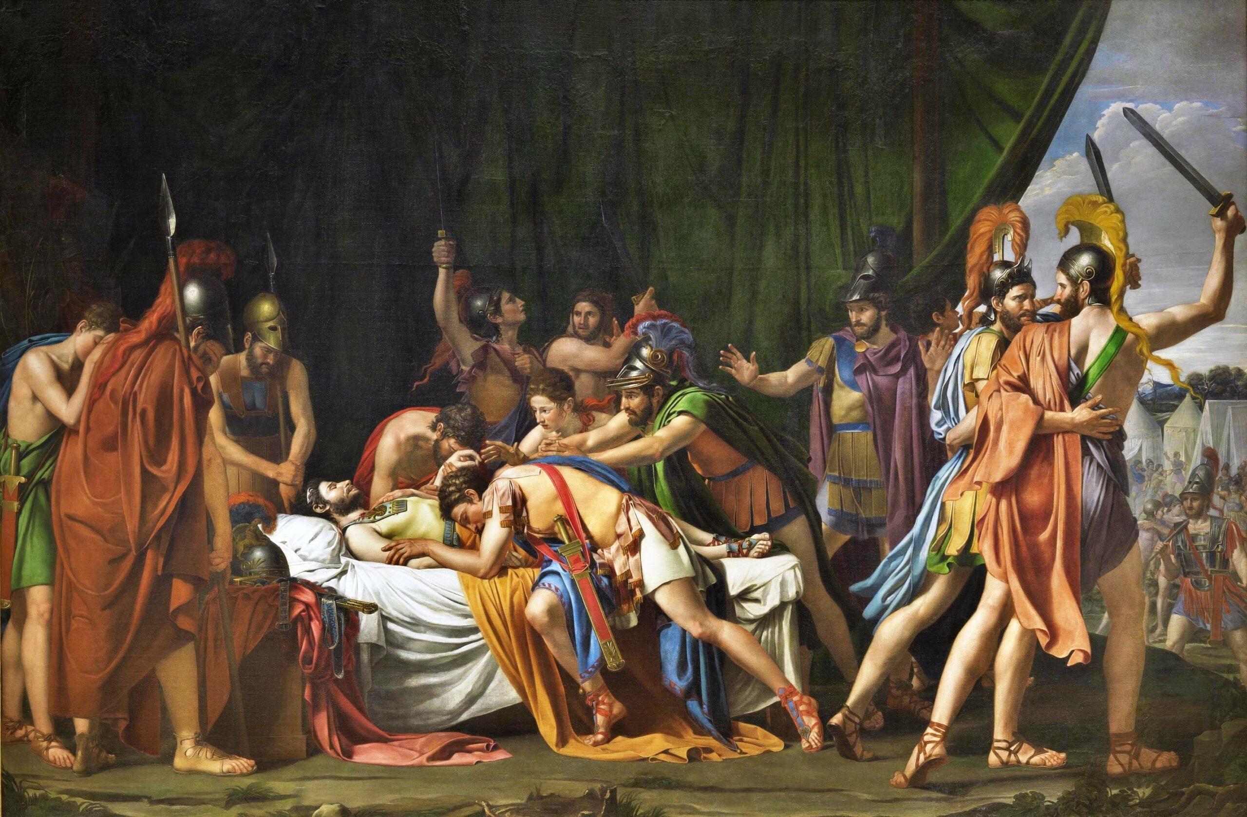 Muerte de Viriato, cuadro de José Madrazo