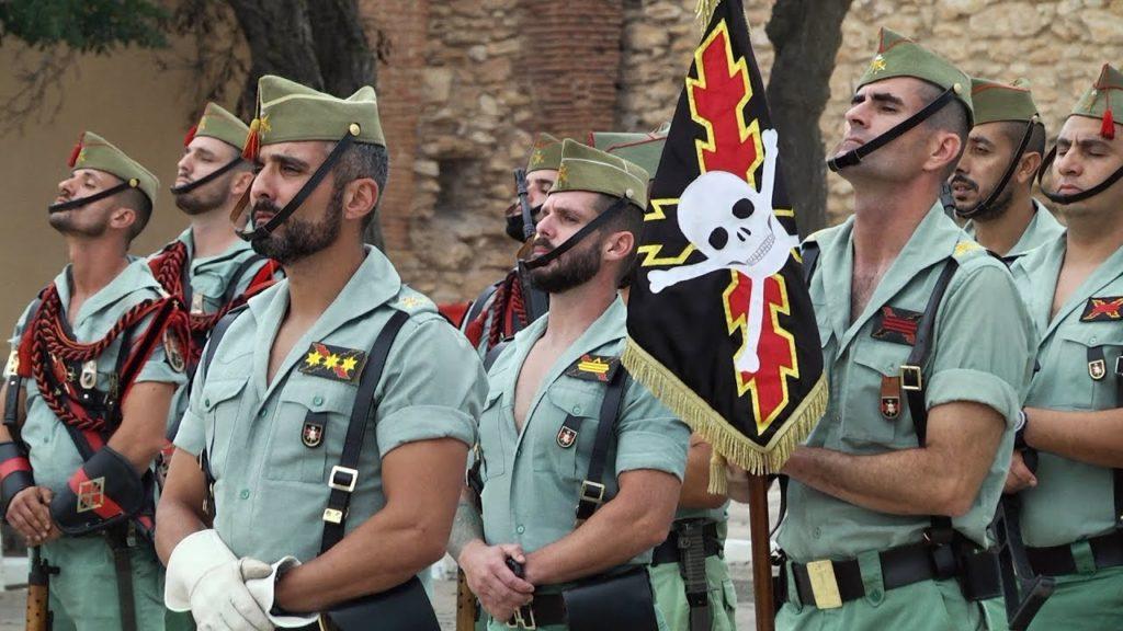 Soldados de la Legión Española en formación