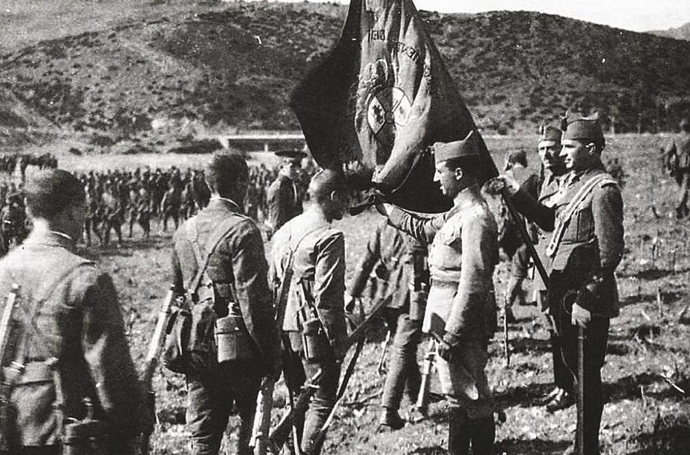 Primera jura de bandera de la Legión en octubre de 1920